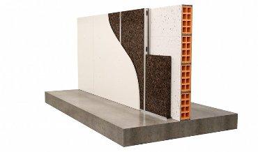Пробковый агломерат - изоляция стены из металлической стойки поверх кирпича