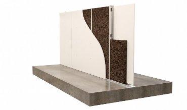 Агломерат из пробки - изоляция стены из металлической стойки
