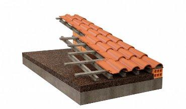 Скатная крыша с пробкой