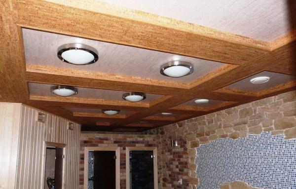 Пробковый потолок в интерьере