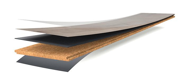 Водостойкий пробковый пол Wicanders Hydrocork структура
